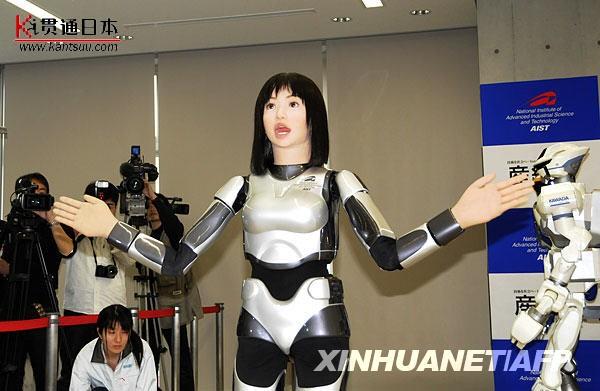 日本研制出美女机器人