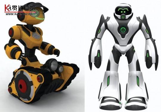 """距离CES一月份发布时间已经半年多了,Woowee的两个小家伙终于开始销售,价格分别是69.99美金和99.99美金,其中,Roborover是一个可爱的履带小机器人,配备了智能式行动控制和多个传感器,能够自动辨别行进的路线。 Roborover最有趣的一个功能就是""""跟随我""""(Follow Me),会跟着你跑;而Joebot是一个行走机器人,同样具备互动式功能,可以跳舞,避开障碍物行走,眼睛和嘴巴挥动,和你进行模拟对话,如果你想给你过往的童年找些乐趣,这应该是个不错的伙伴。"""