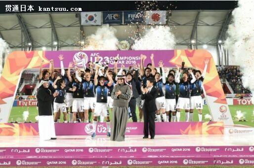 U23亚洲杯-日本3-2韩国夺冠 替补导演3球逆转