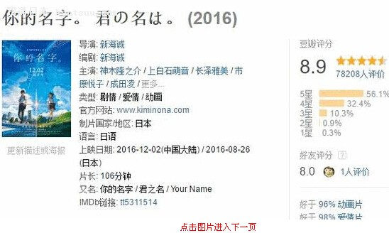 这部日本片让我对人性有了新认识 《你的名字。》影评
