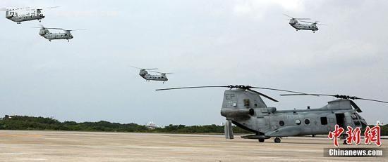 资料图:驻日美军直升机。