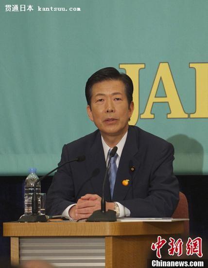资料图:日本公明党党首山口那津男。<a target='_blank'  data-cke-saved-href='http://www.chinanews.com/' href='http://www.chinanews.com/'><p  align=