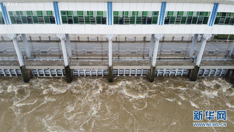 安徽淮河の水�T、放流停止へ
